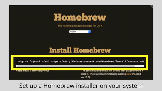 Set up a Homebrew installer on your system